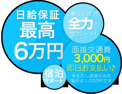 日給保証最高6万円